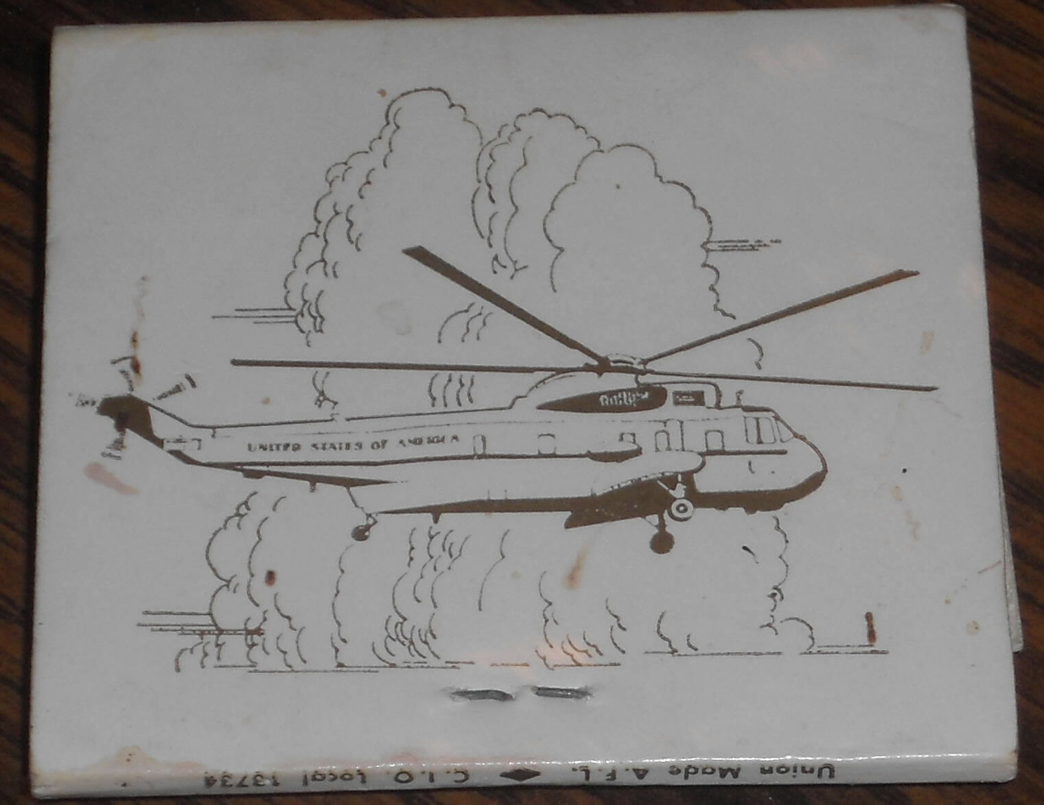 army one was the official presidential helicopter before marine one and is no longer in service army one items are much harder to find